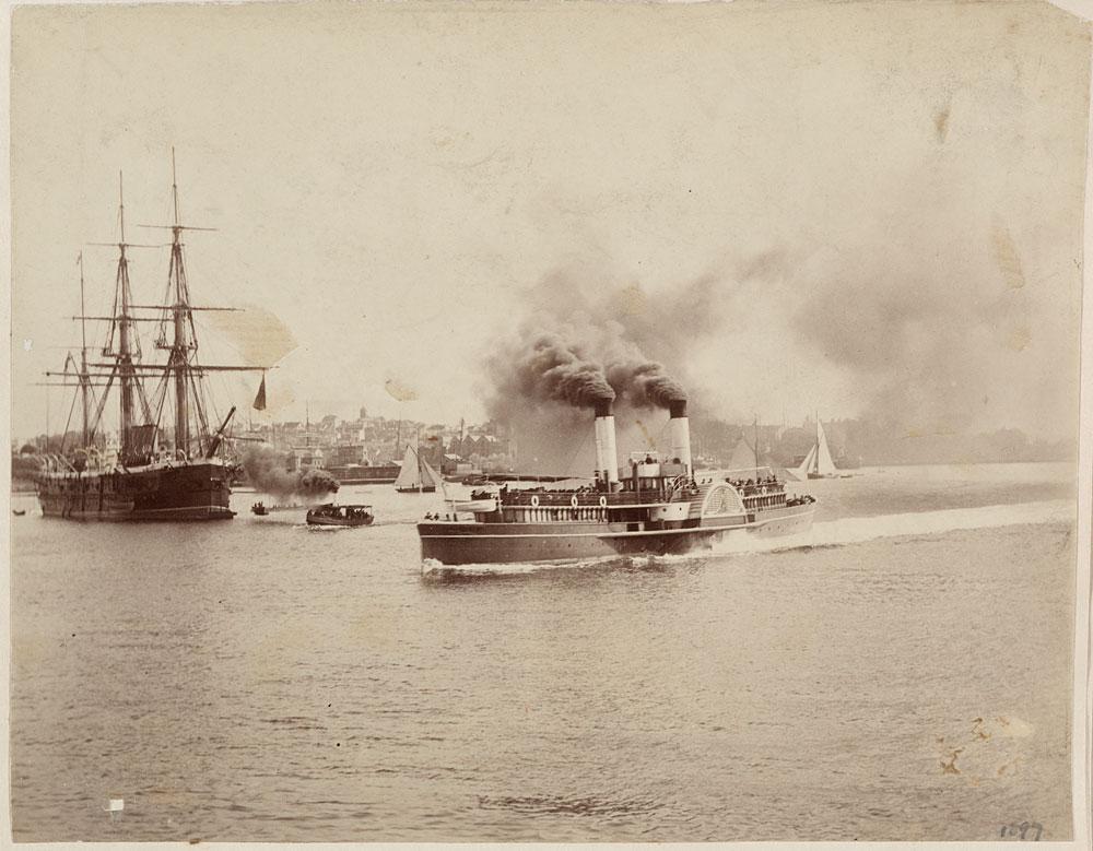 HMS Nelson and Brighton, c. 1885, by Charles Bayliss, Albumen print, PXA 422/29