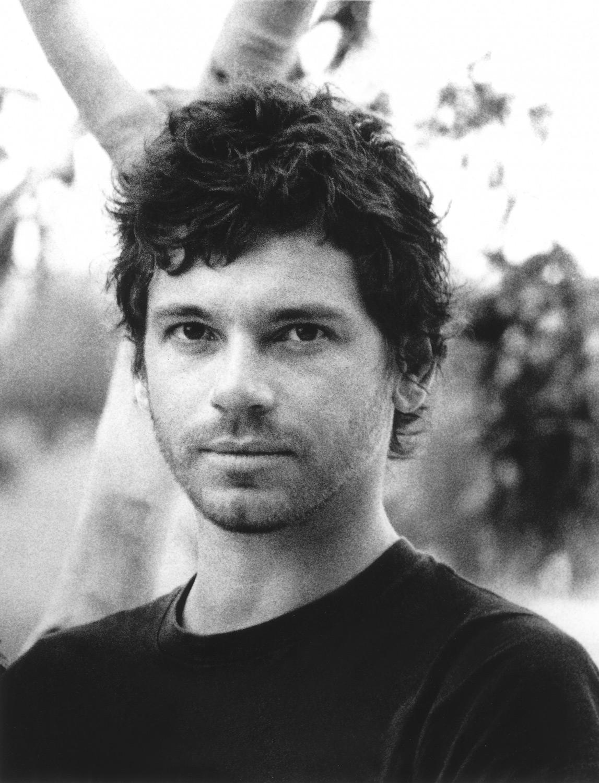 Black and white portrait of Michael Hutchence