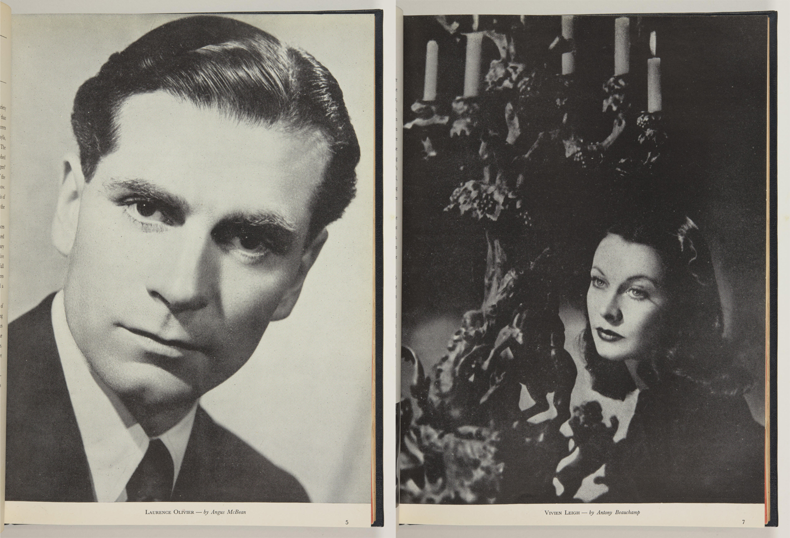 Laurence Olivier and Vivien Leigh in the Old Vic Theatre programme 1948