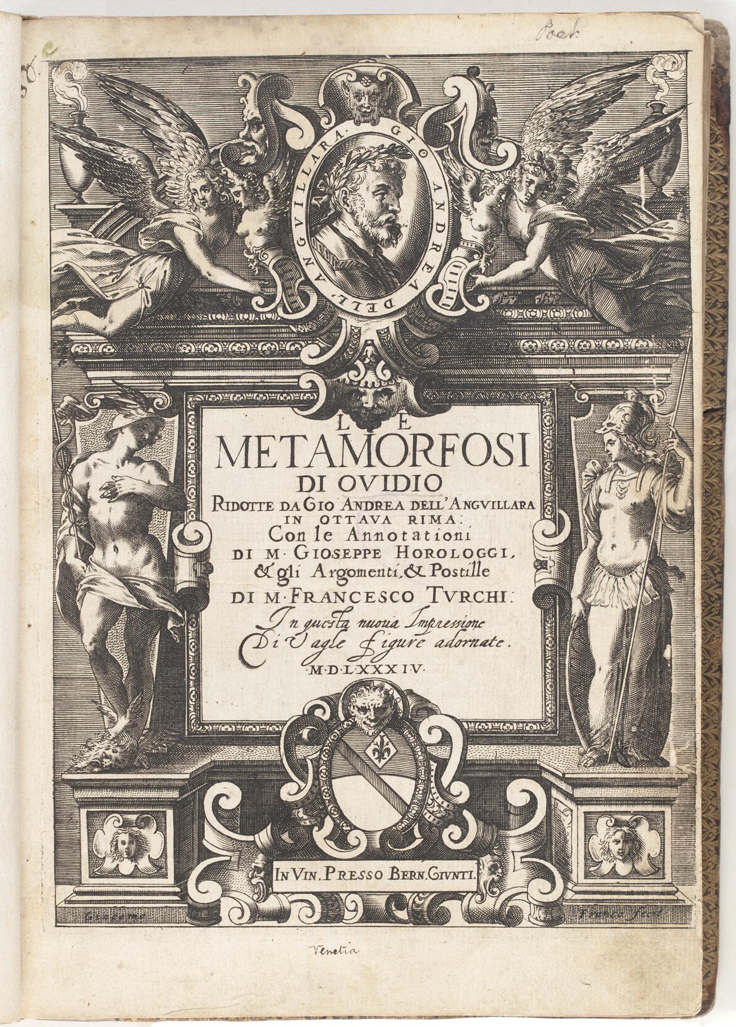 Le metamorfosi di Ovidio, 1584, by Ovid