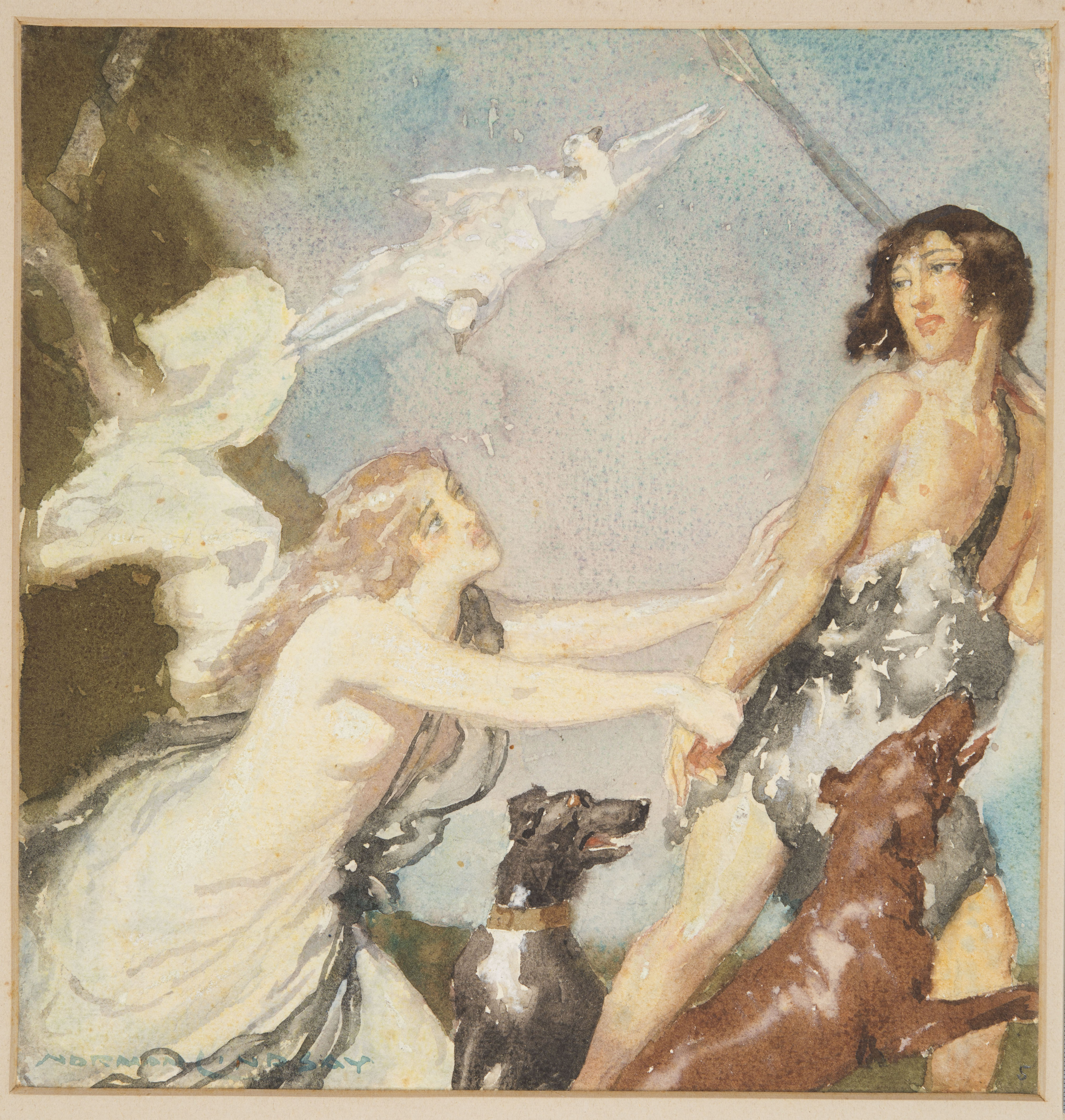 Original artwork for the cover of 'Songs of Love and Life', 1917
