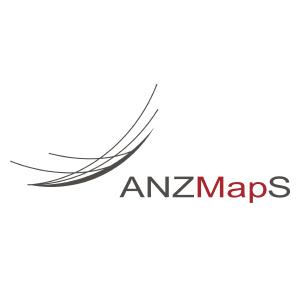 Australian and New Zealand Map Society logo.