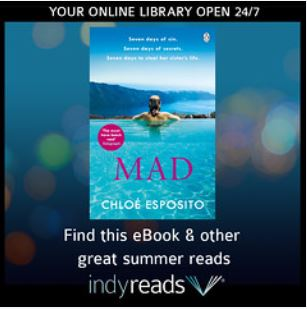Mad book cover with indyreads promotion