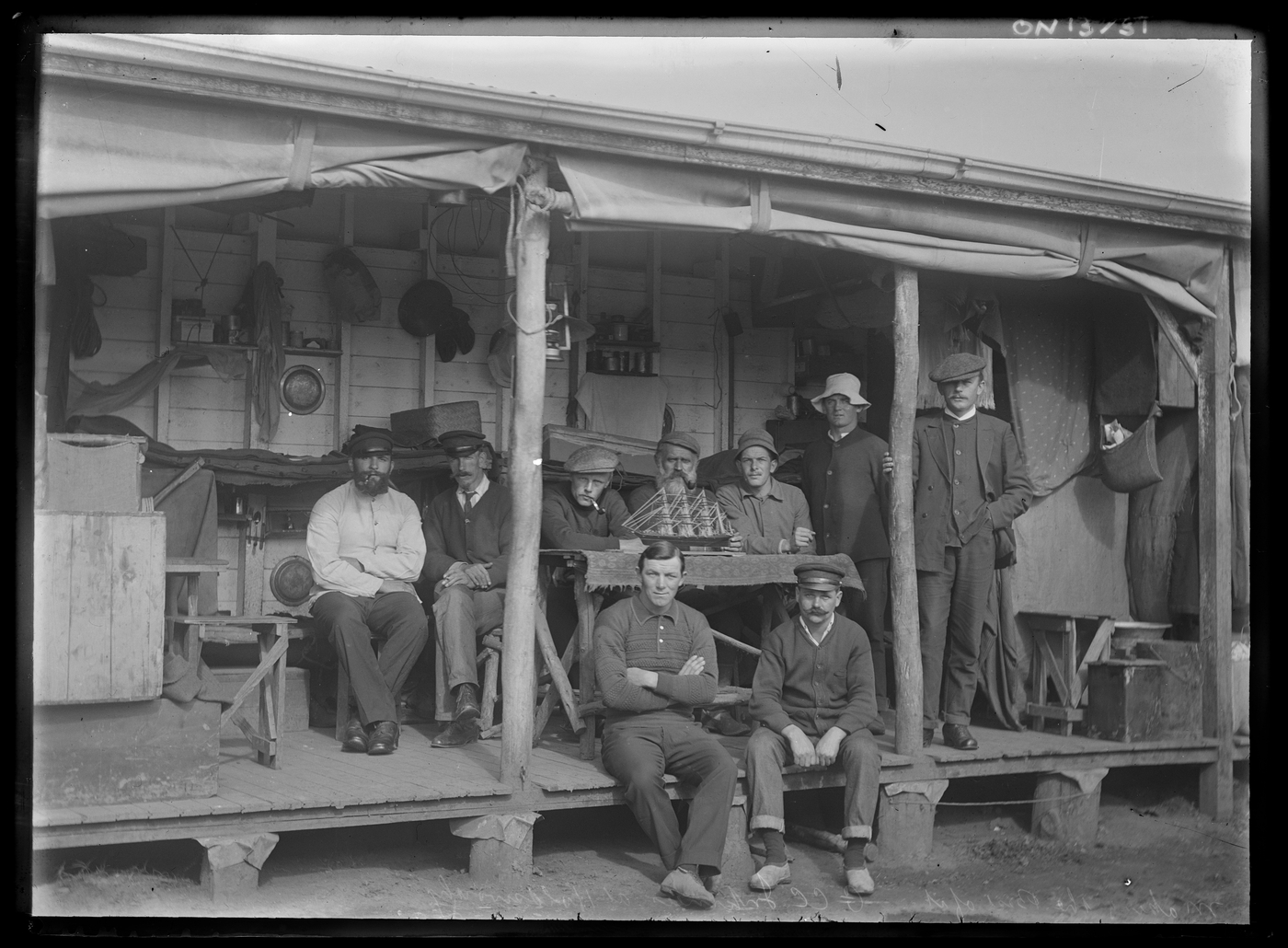 A group of internees at the Holsworthy internment camp during the First World War