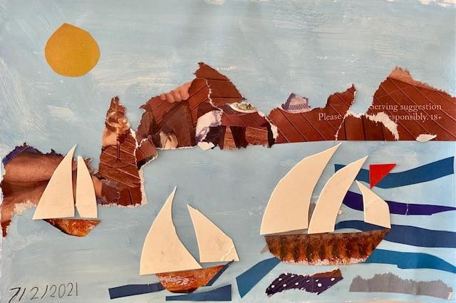 Mavis - Boat collage