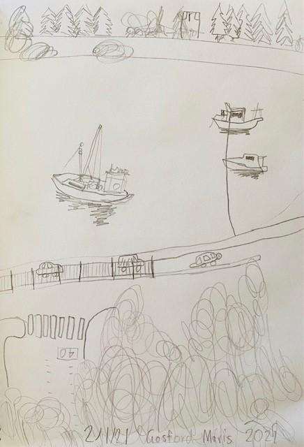 Mavis - Drawing at Gosford