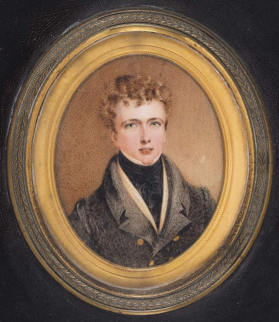 Helenus Scott Jnr, 1820, attributed to Miss Sharpe, MIN 355