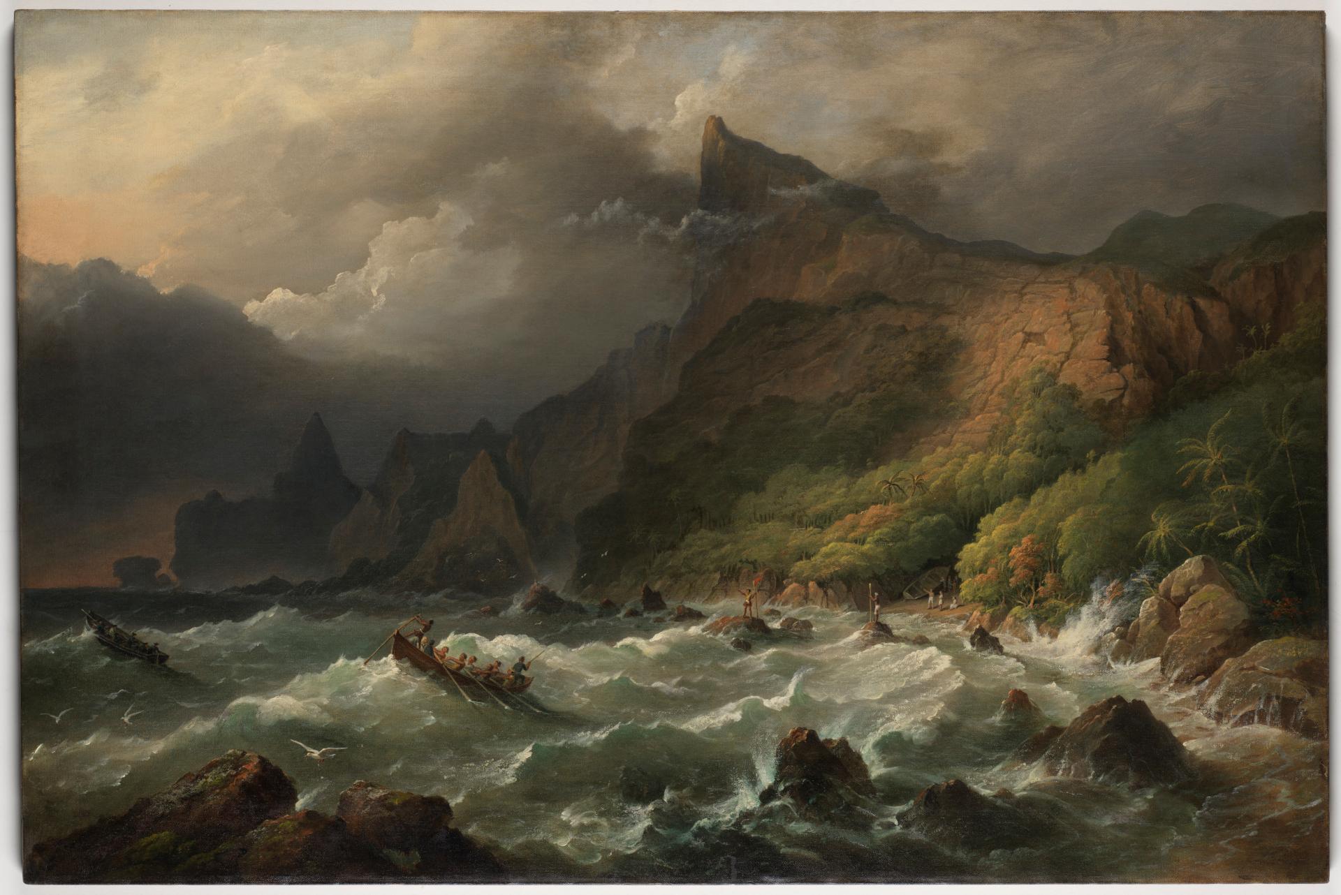 Landing in Bounty Bay, 1825? / Frederick William Beechey