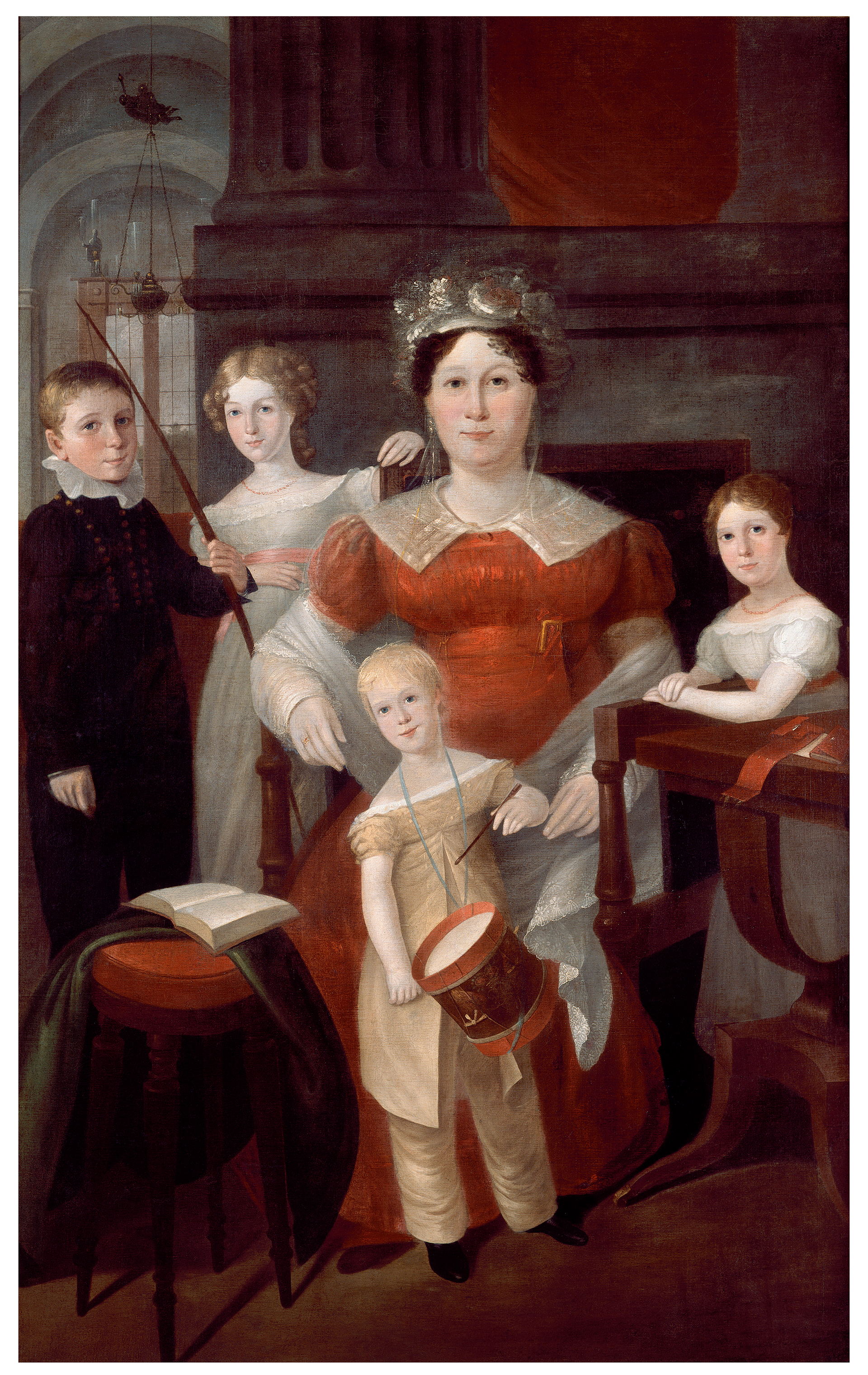 [Ann Piper and her children, ca. 1826 / oil painting by Augustus Earle]