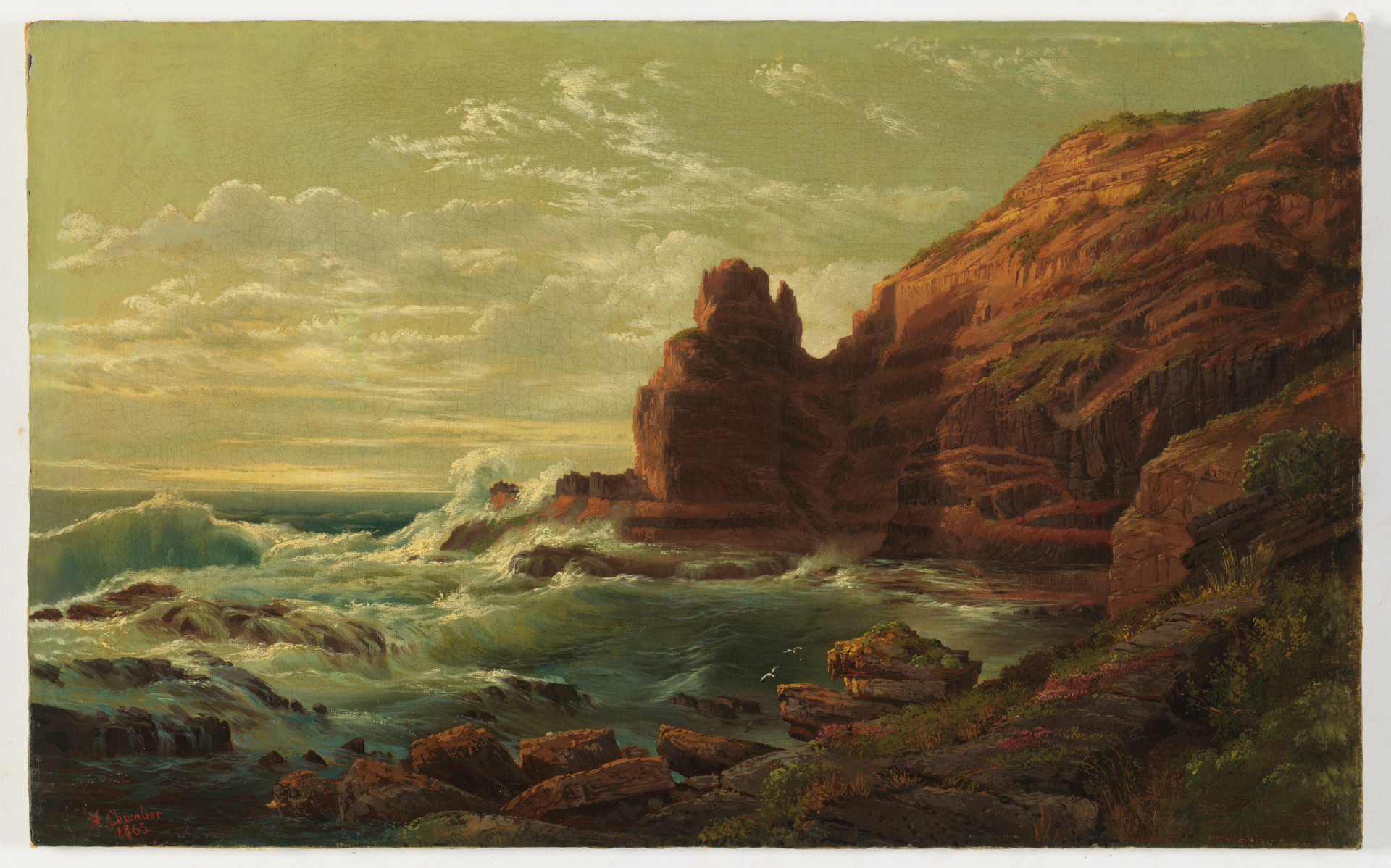 Castle Rock, Cape Schanck, Victoria, 1865 / by Nicholas Chevalier