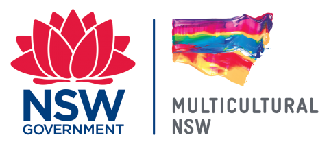 NSW logo for Multicultural March