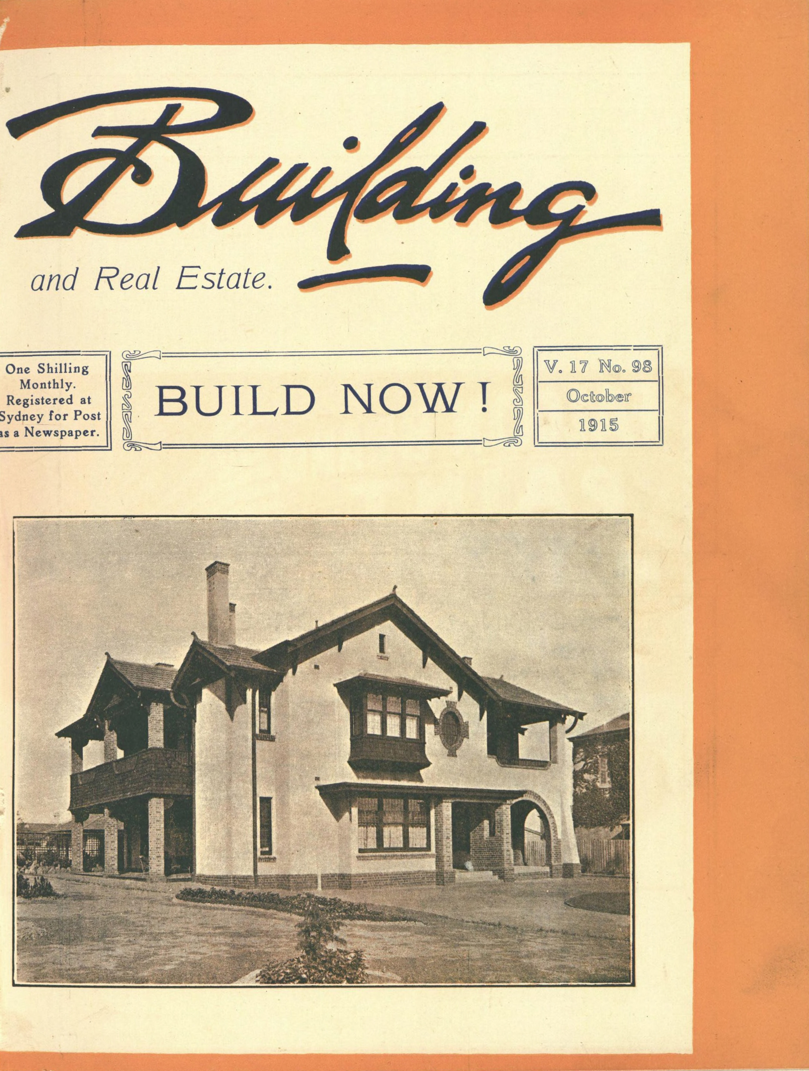 Image of building magazine cover, Vol 17, No 98