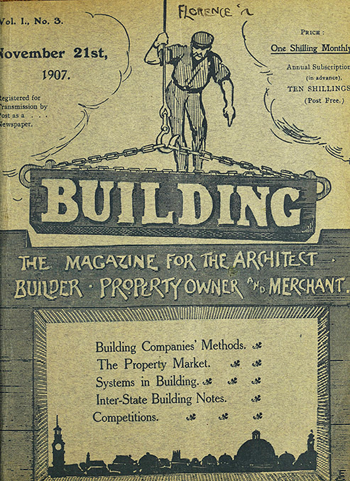 Image of Building magazine front cover, November 21st, 1907