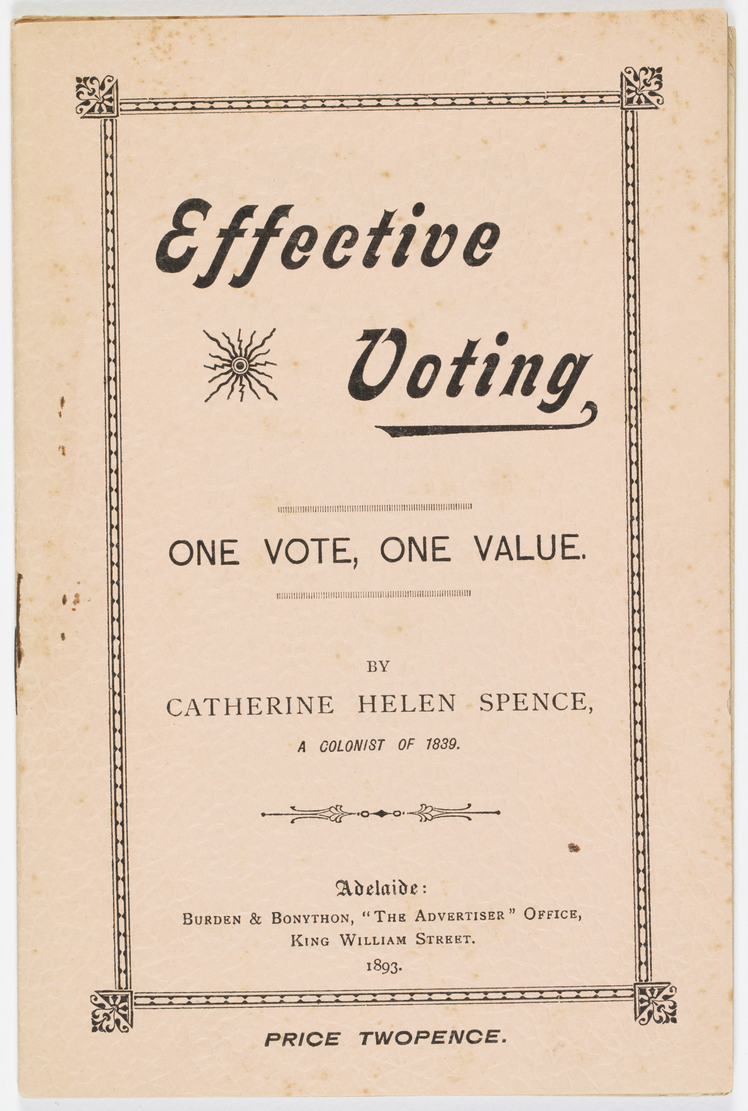 Cover page for Effective Voting