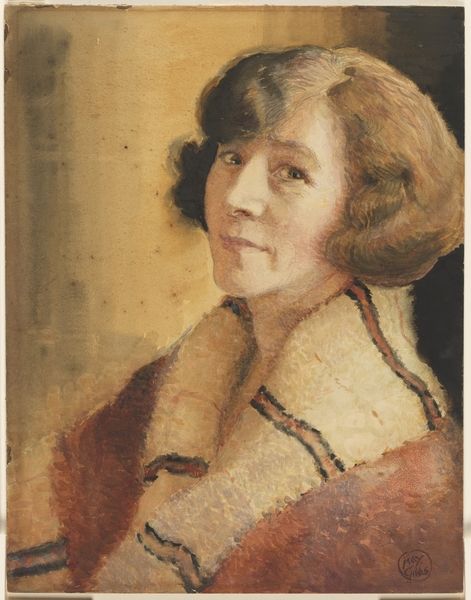 Souriante [self portrait, smiling], by May Gibbs, c.1923.