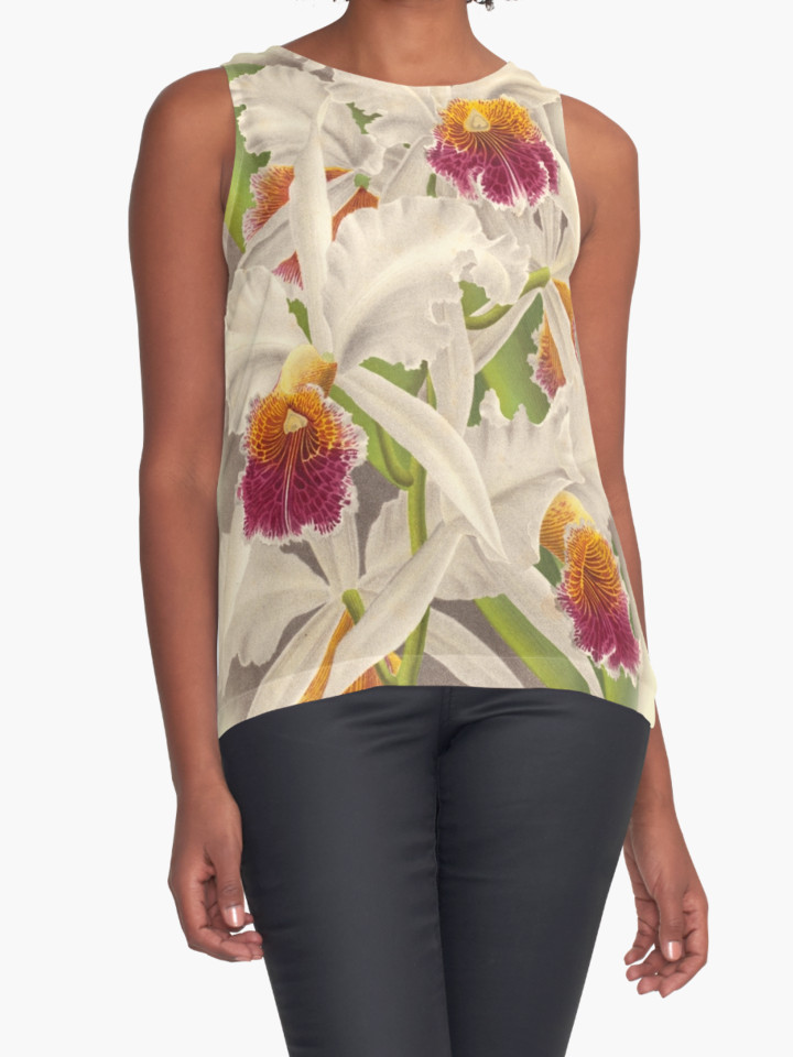 Orchid print singlet top