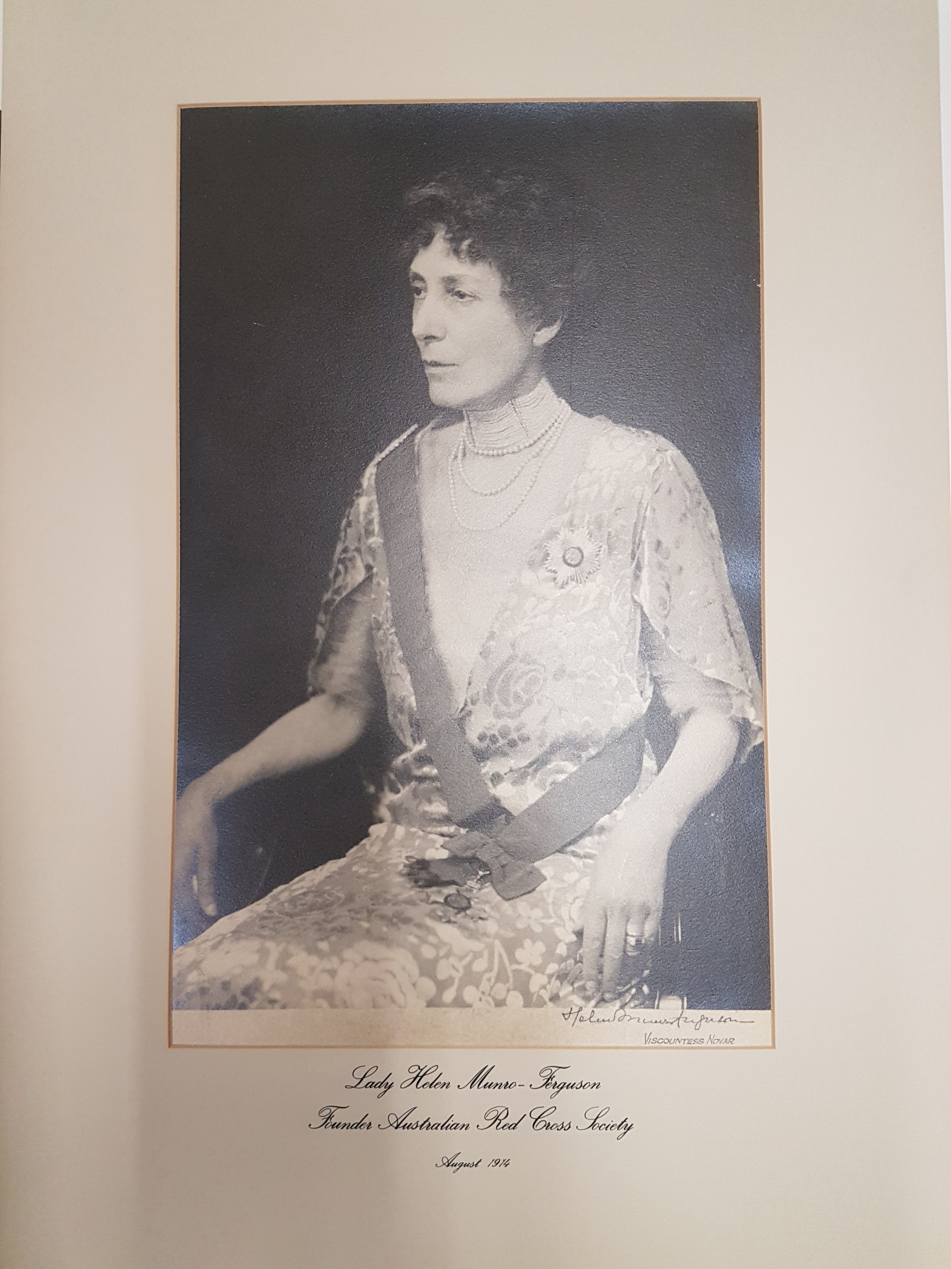 •Portrait of Lady Helen Munro-Ferguson, founder of the Australian Red Cross Society, August 1914