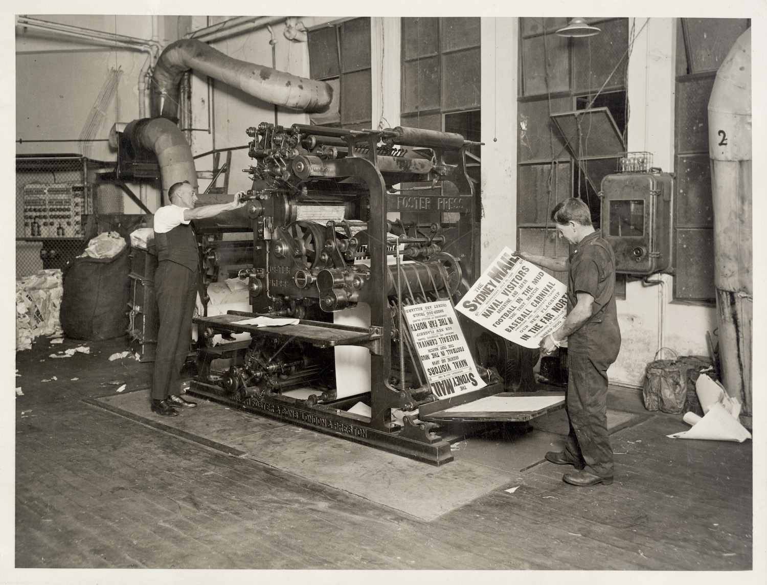 Printing Sydney Mail posters, 1928,