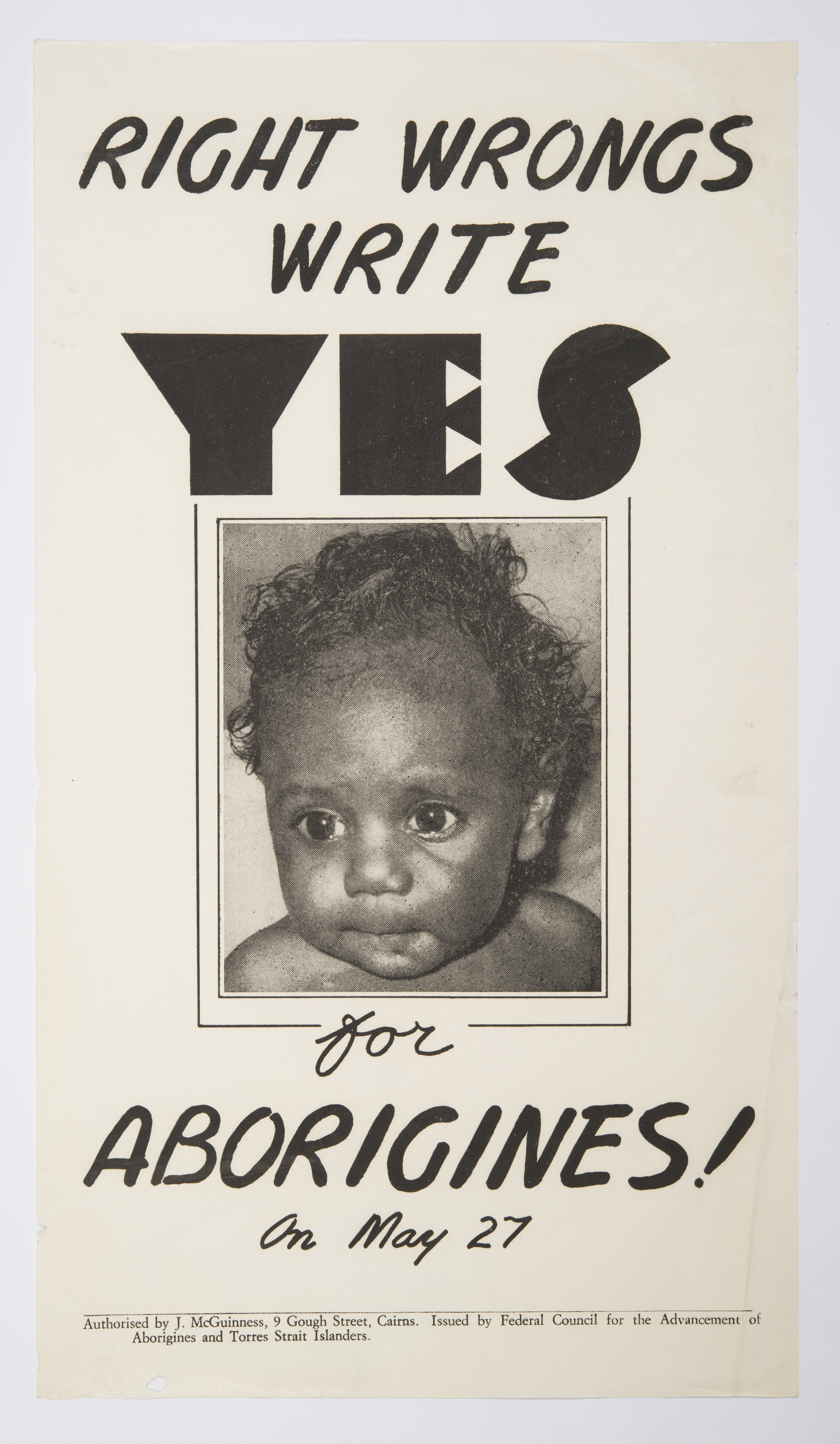Right Wrongs Write Yes for Aborigines