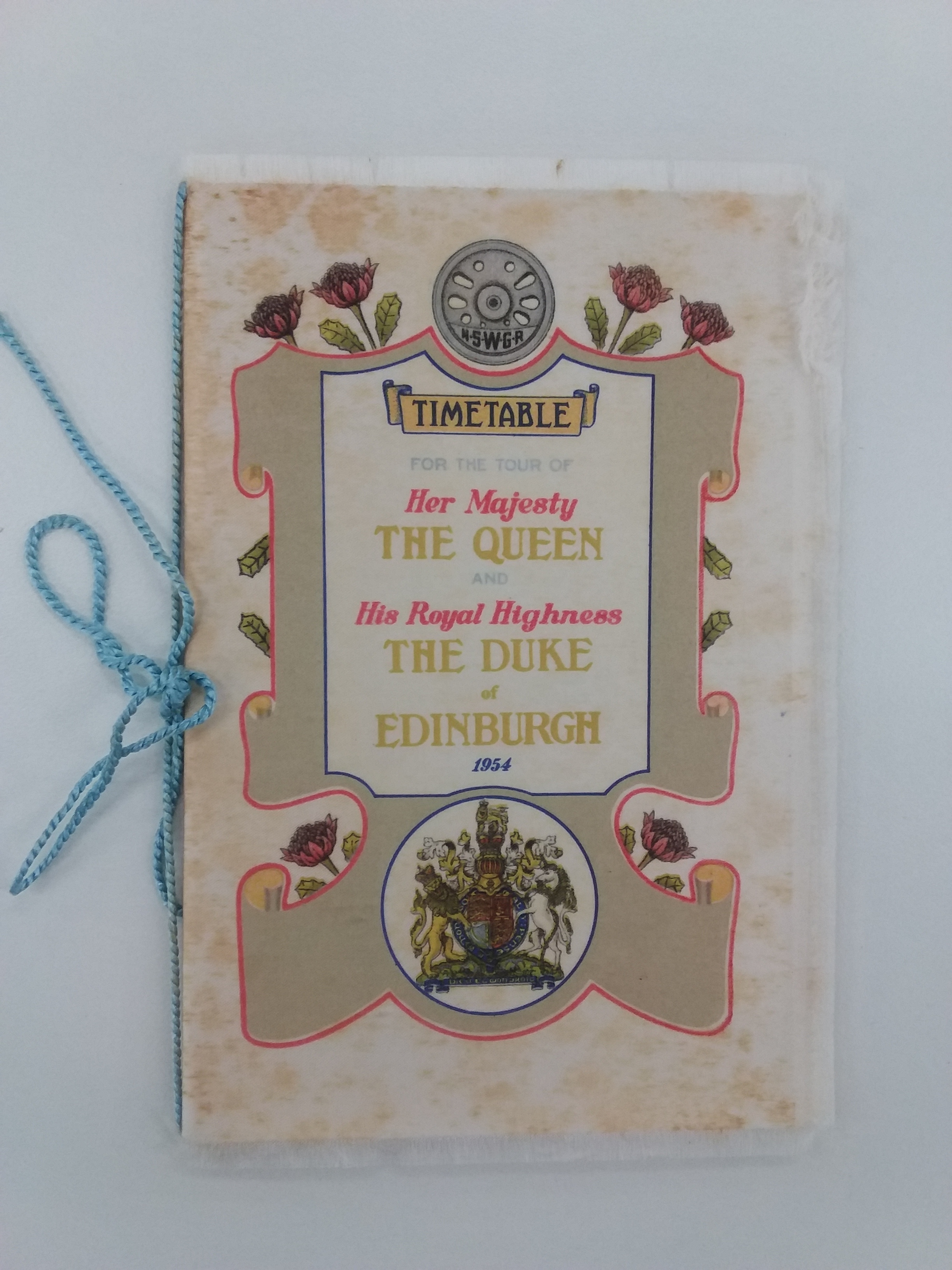 Photo of the Royal visit commemorative silk train timetable