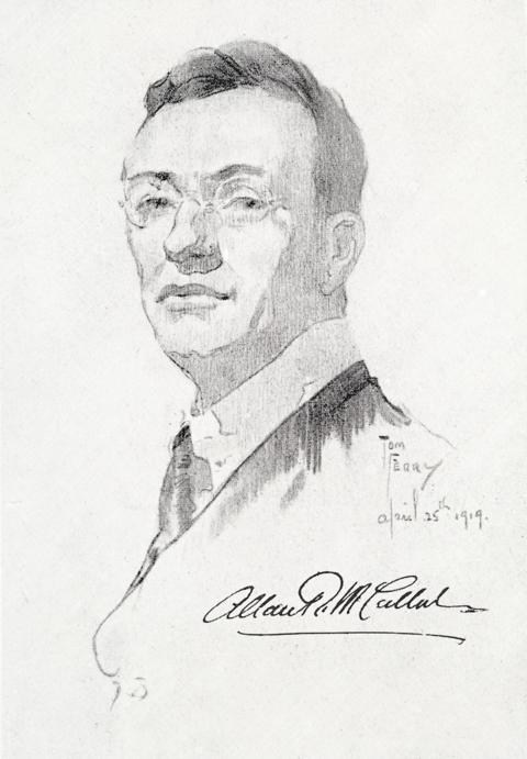 Sketch of Allan R McCulloch, 1919, Tom Ferry, courtesy Australian Museum Archives