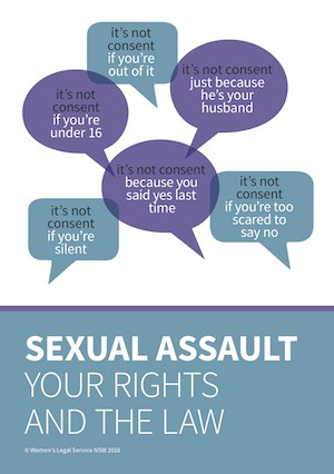 Cover image of booklet Sexual Assault - your rights and the law