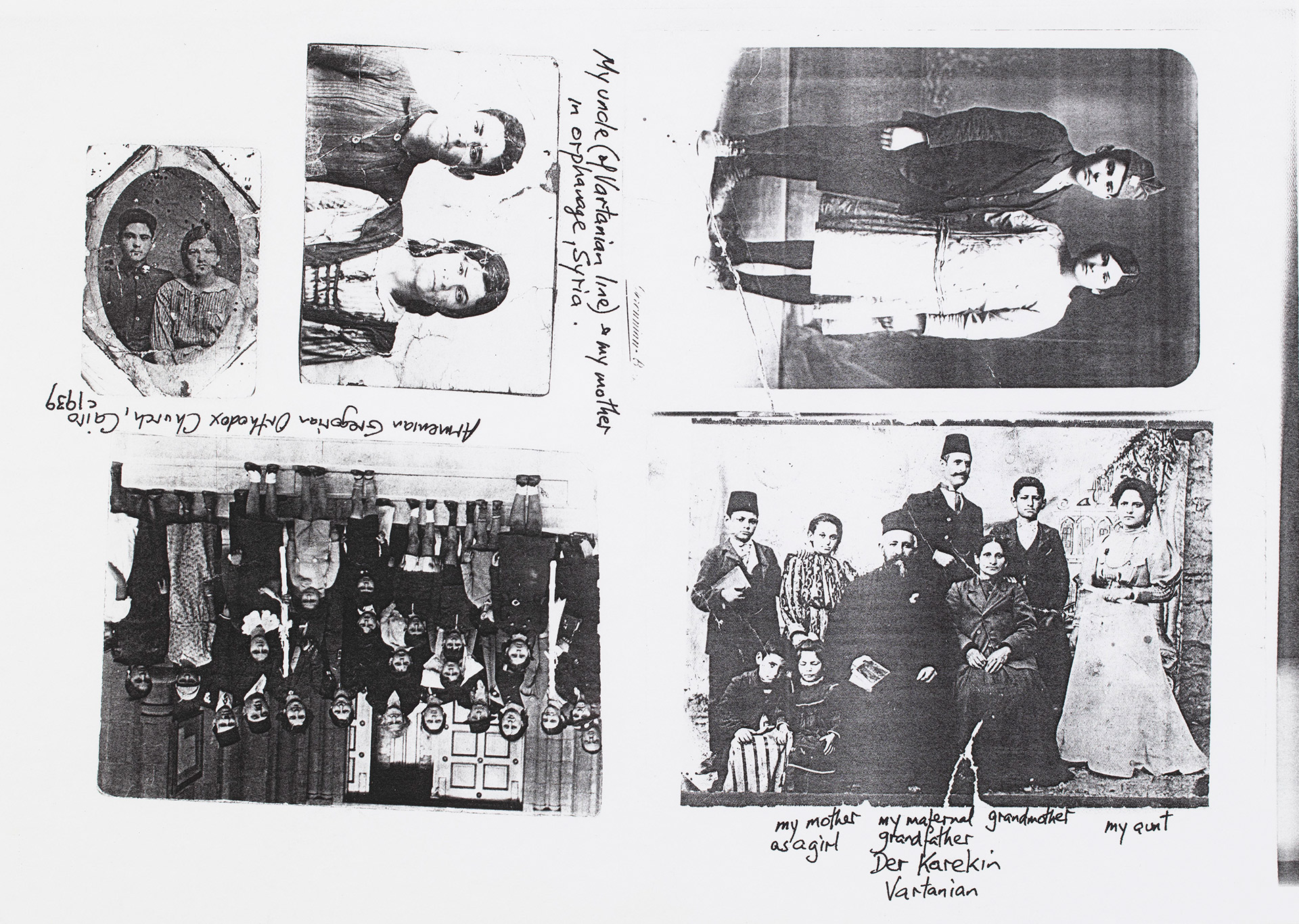 A collection of images, photocopied on an A4-sized paper.