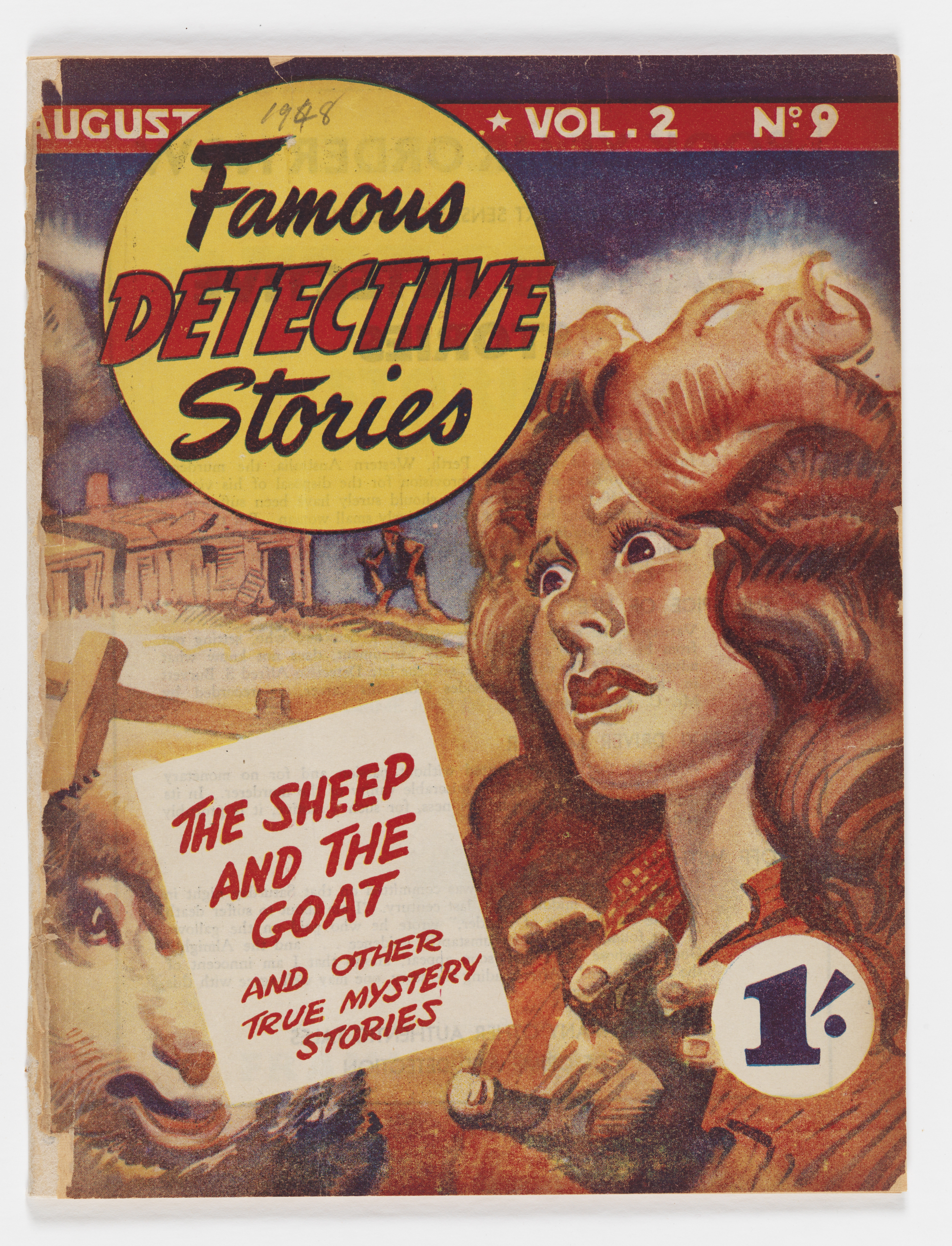 front cover of a detective book with woman's face