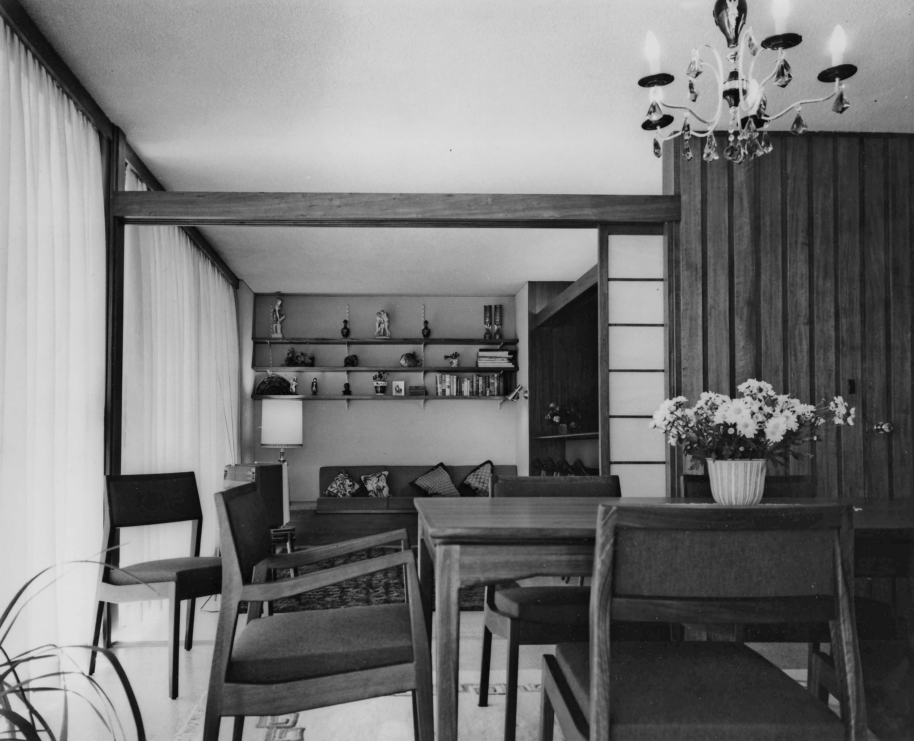 Photo of Assef House interior, Bellevue Hill (1964)