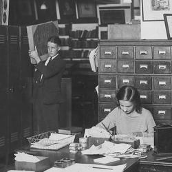 The main library of John Fairfax & Sons in Hunter Street, Sydney, cir. 1930