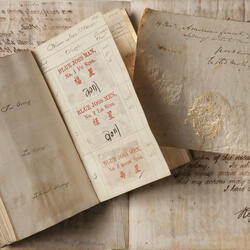 Old books and parchments