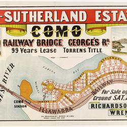 Advertisement  for sale of railway bridge Como