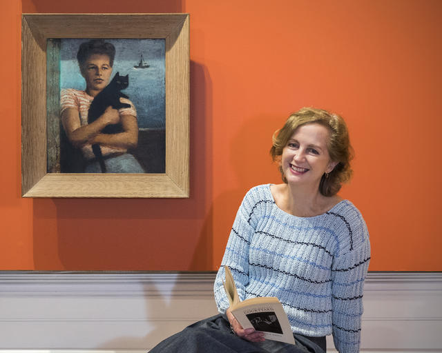 Louise Anemaat with Elizabeth Riddell painting by Dahl Collings