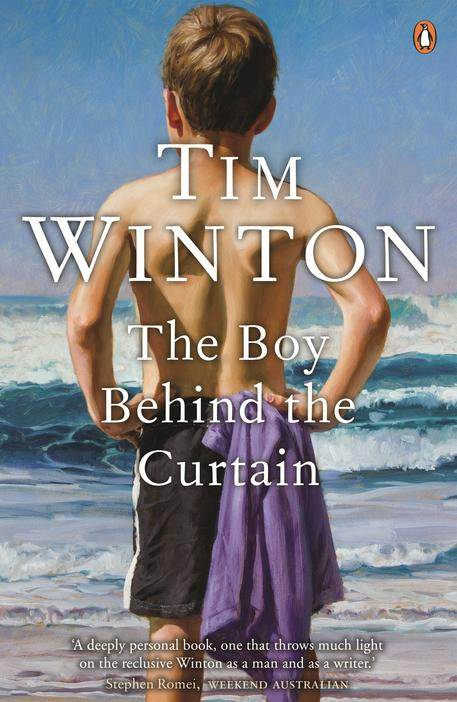 Cover image of the boy behind the curtain