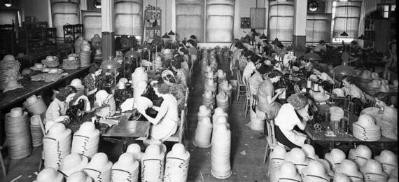 General view of the factory floor, Sam Hood, 1941