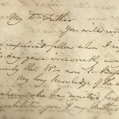 A close-up of a handwritten letter.