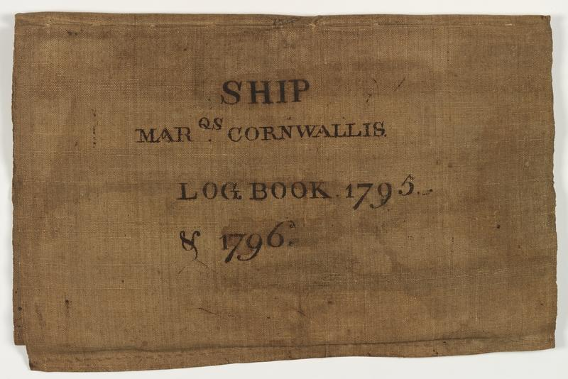 cover of logbook 1795