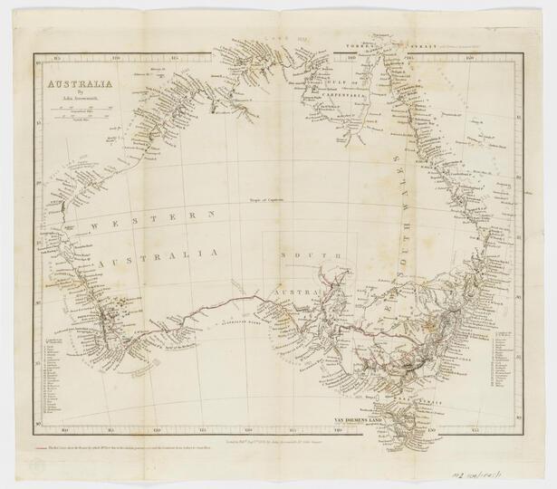1845 map of Australia