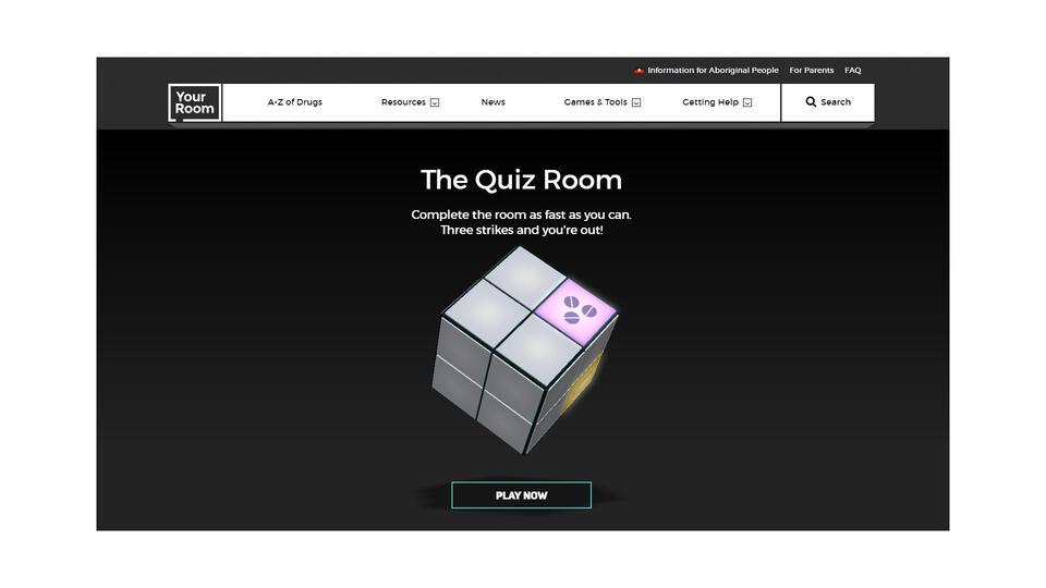 screenshot of trivia game
