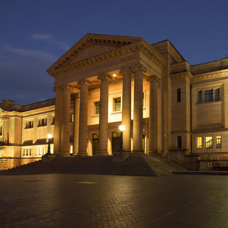 Mitchell Library at night