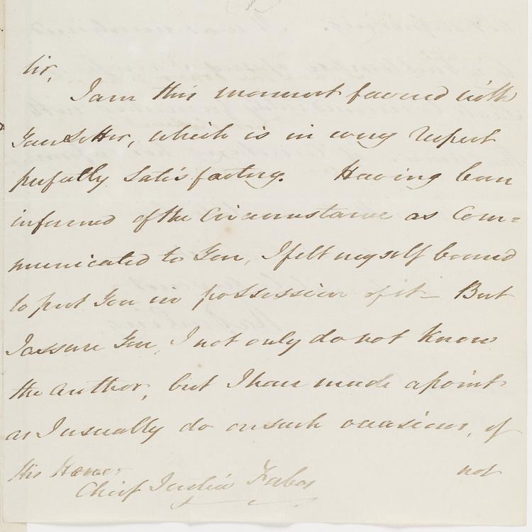 Frances Forbes letter