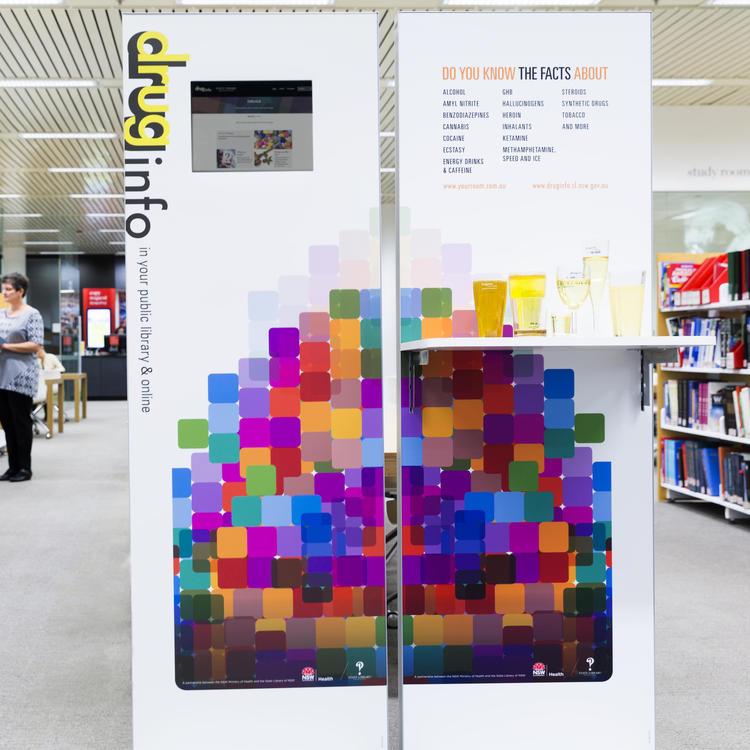 Drug and alcohol info hub display unit