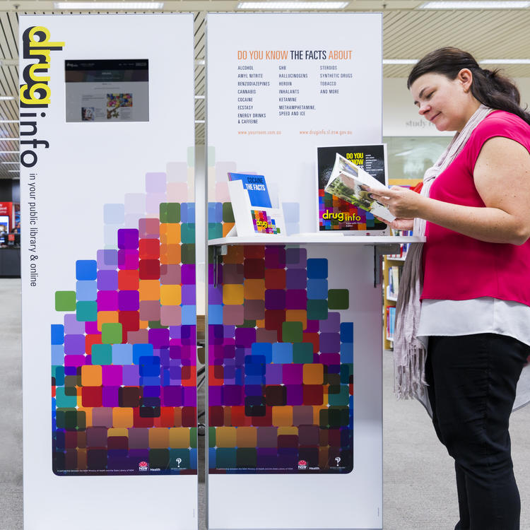 Drug and alcohol info hub stands