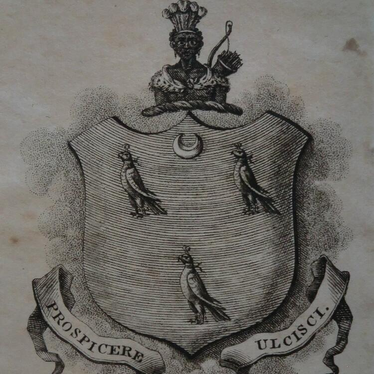 Samuel Clayton for Charles Manigault, 1818, the earliest known Australian-made bookplate