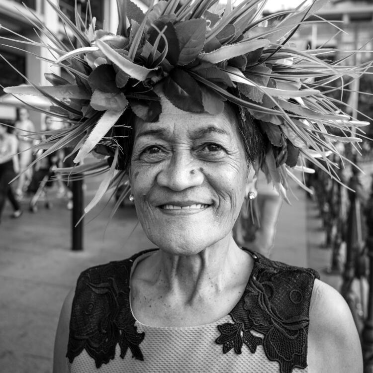 beauty in difference exhibition image of lady in a fancy headpiece