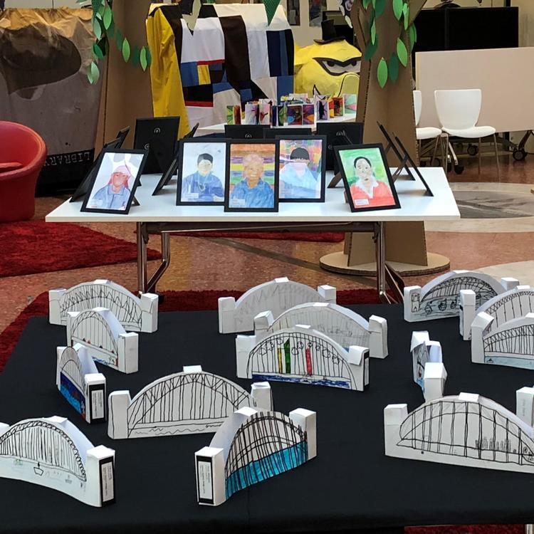 Paper sculptures of the Sydney Harbour Bridge