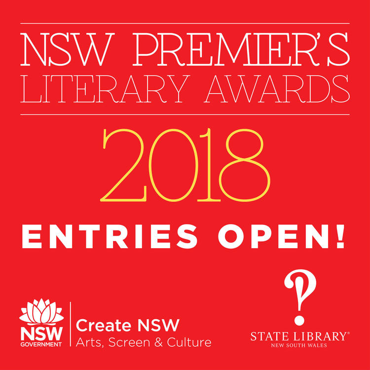 Entries are now open for the 2018 NSW Premier's Literary Awards