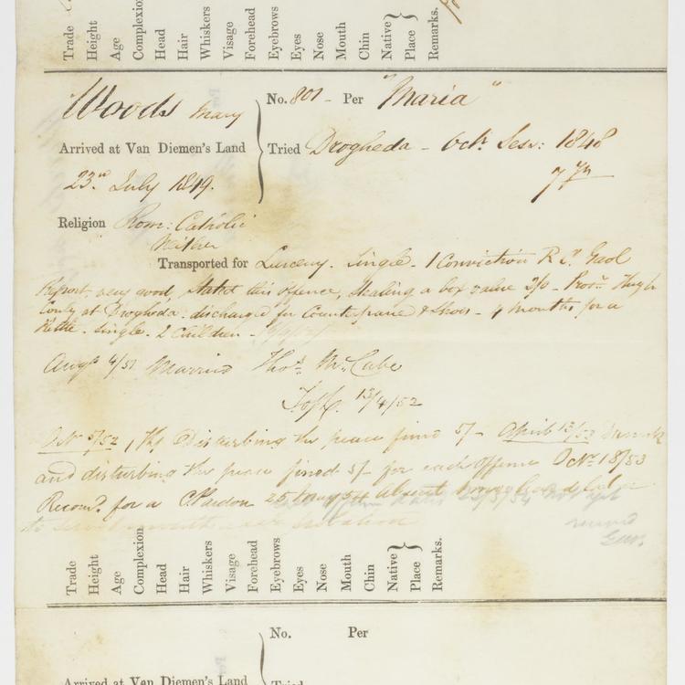 Van Dieman's Land convict records