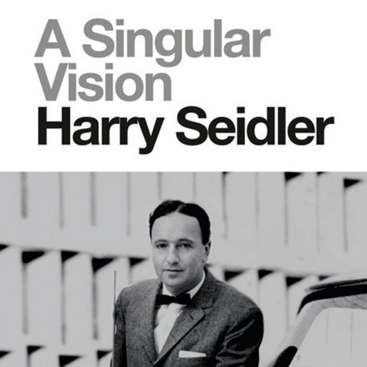 Australian architect Harry Seidler AC OBE on book cover of A Singular Vision Harry Seidler by Helen O'Neill