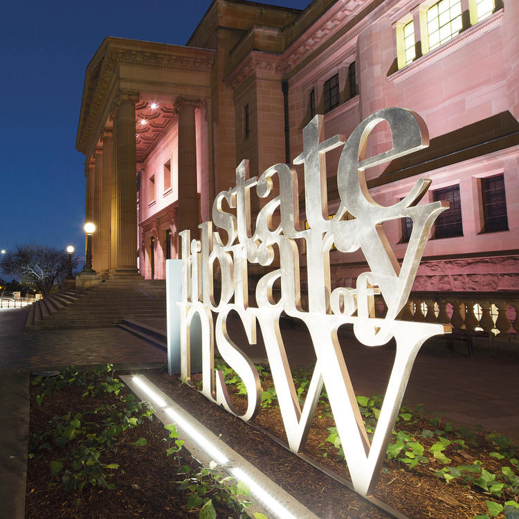 State Library NSW at night